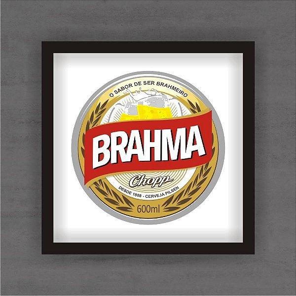 Quadro Decorativo Brahma 2 Com Moldura