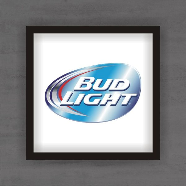 Quadro Decorativo Bud Light Com Moldura