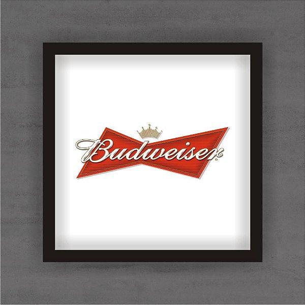 Quadro Decorativo Budweiser Com Moldura