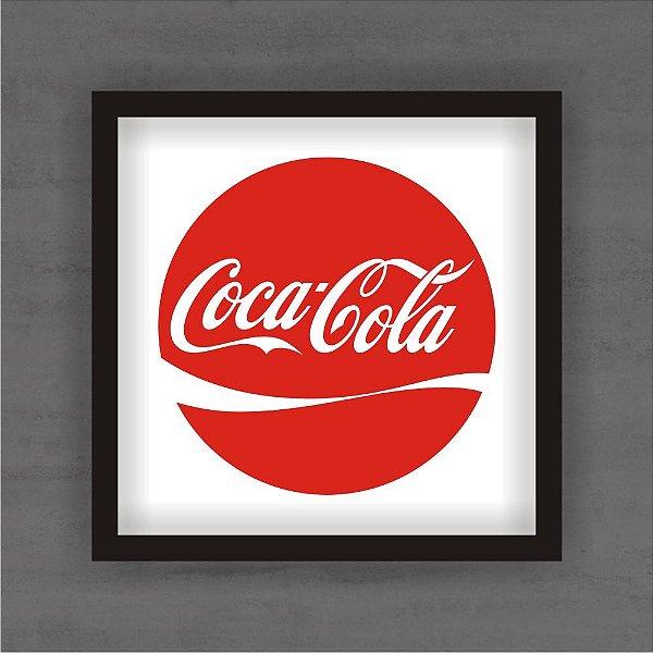 Quadro Decorativo Coca Cola Com Moldura