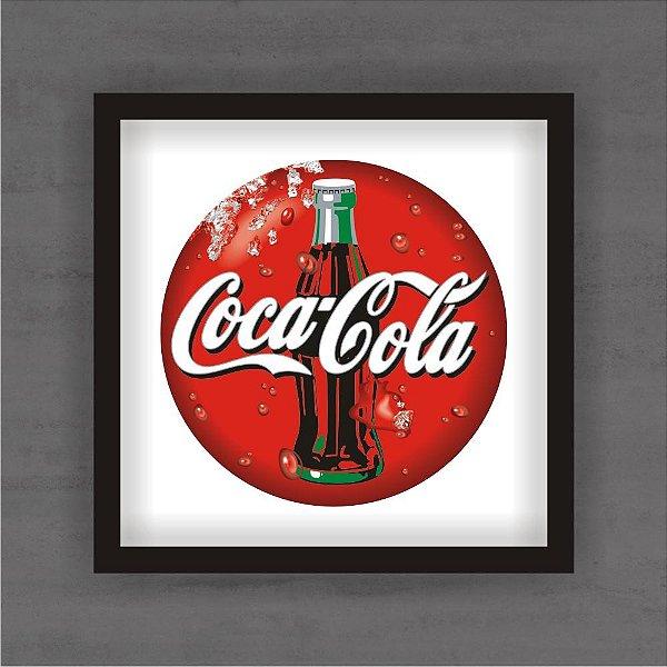 Quadro Decorativo Garrafa de Coca Cola Com Moldura