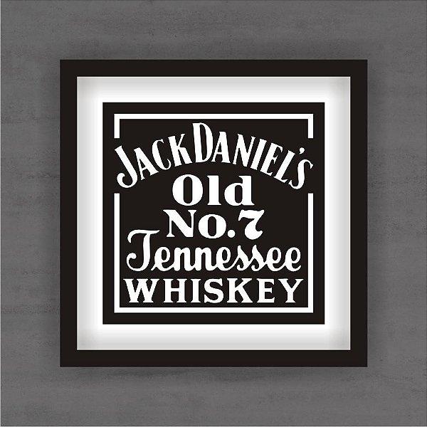 Quadro Decorativo Jack Daniels Com Moldura