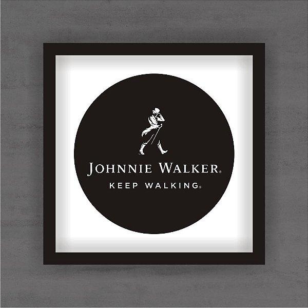 Quadro Decorativo Jhonnie Walker Com Moldura