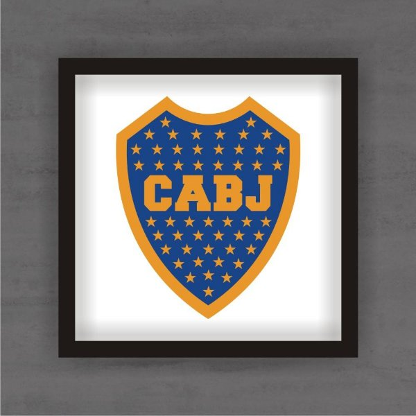 Quadro Decorativo Boca Juniors Com Moldura