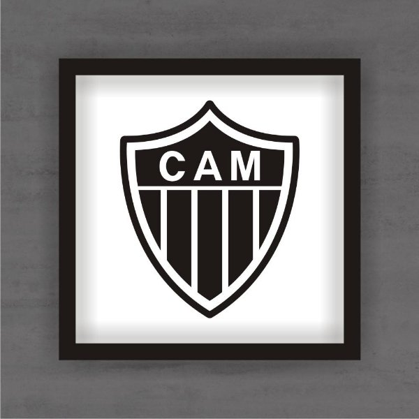 Quadro Decorativo Atlético Mineiro Com Moldura