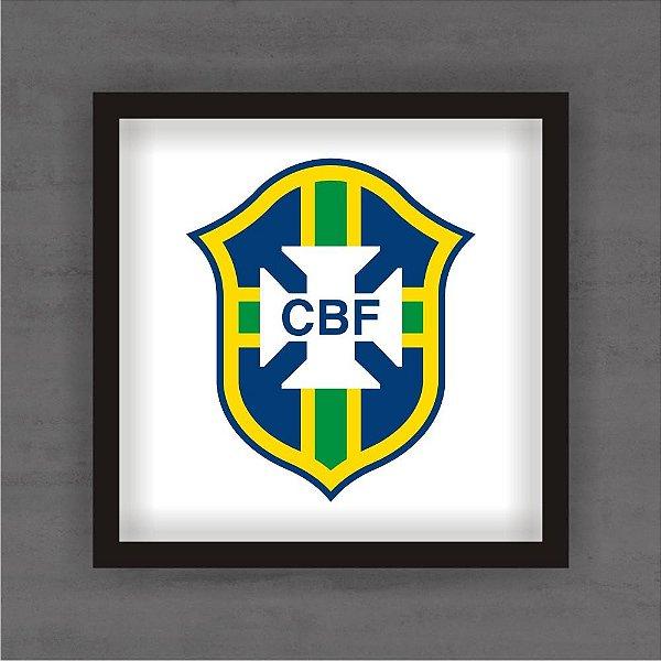 Quadro Decorativo CBF Brasil Com Moldura