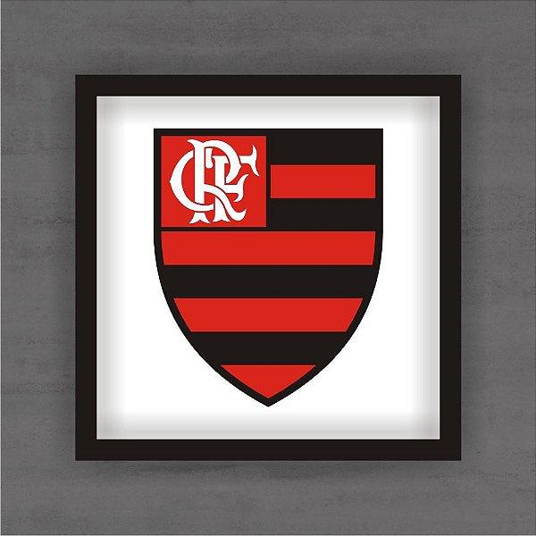 Quadro Decorativo Flamengo Com Moldura