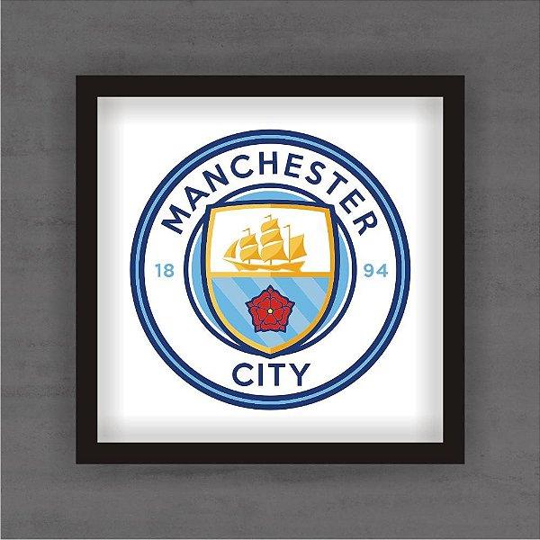 Quadro Decorativo Manchester City Com Moldura
