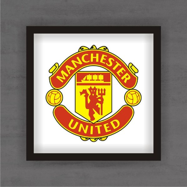 Quadro Decorativo Manchester United Com Moldura