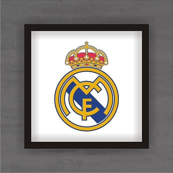 Quadro Decorativo Real Madrid Com Moldura