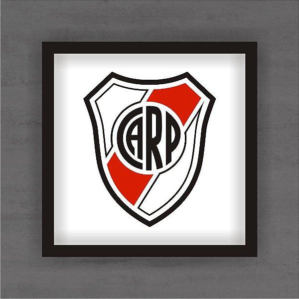 Quadro Decorativo River Plate Com Moldura