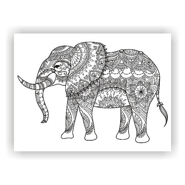 Quadro Decorativo Elefante Animais Salas Quartos Paisagem
