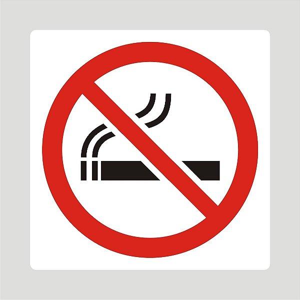 Placa Proibido Fumar  20 cm x 20 cm em PVC Modelo 1