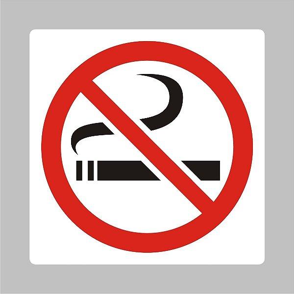 Placa Proibido Fumar  20 cm x 20 cm em PVC Modelo 2