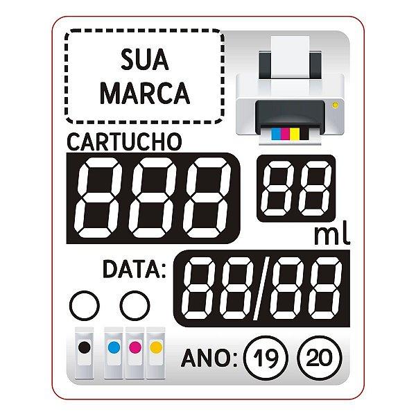 2000 Etiquetas Cartucho Adesivo 3 Dígitos Vinil Prova D'água