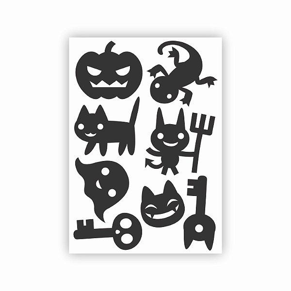 Cartela de Adesivos para Halloween 02