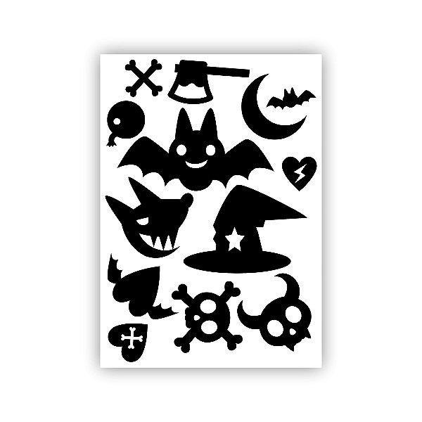 Cartela de Adesivos para Halloween 04