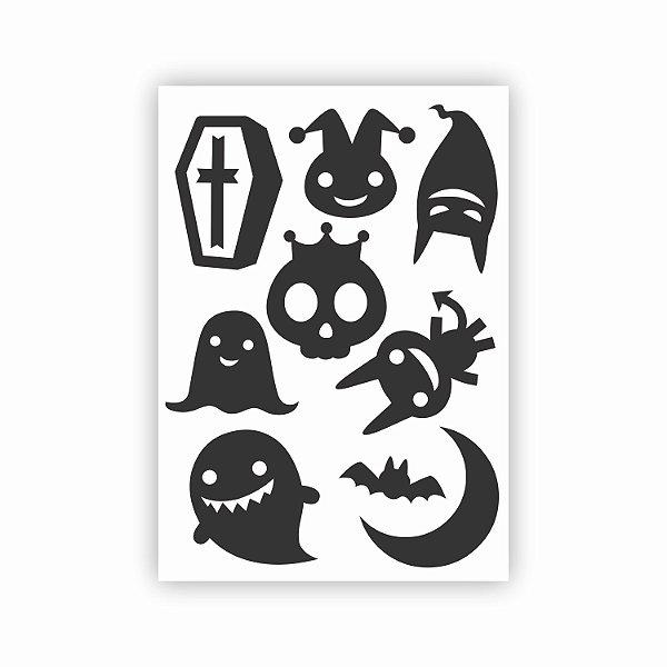 Cartela de Adesivos para Halloween 05