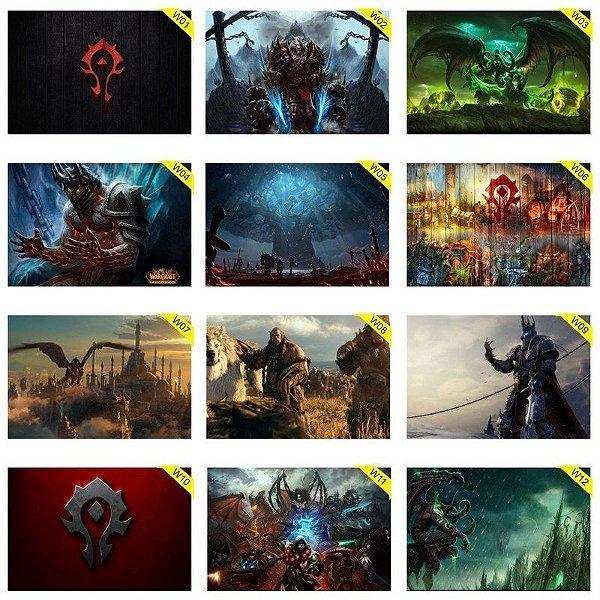 Quadros Placas Decorativas - Medida: 30 cm x 20 cm - World of Warcraft - WOW