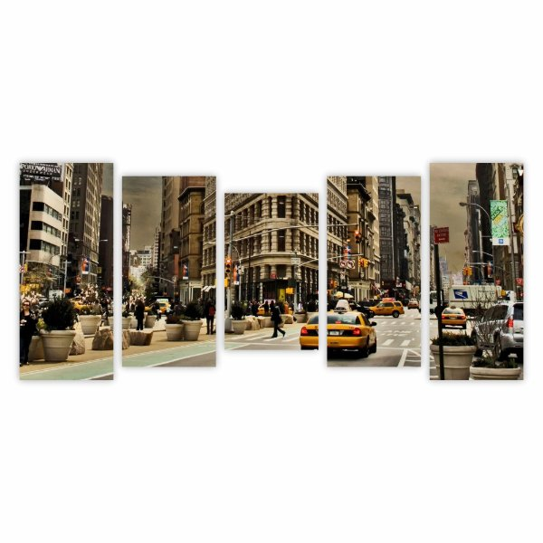 Quadro Decorativo Mosaico Ruas Street Paisagens 108 cm x 50 cm