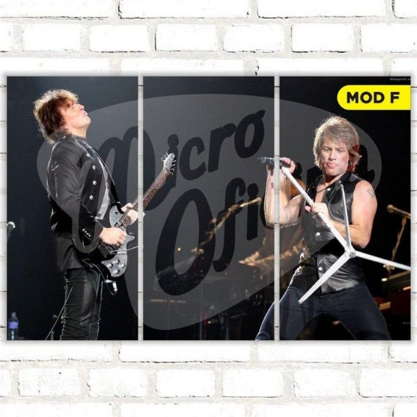 Quadro Triplo Bon Jovi Escolha o Seu Modelo!!