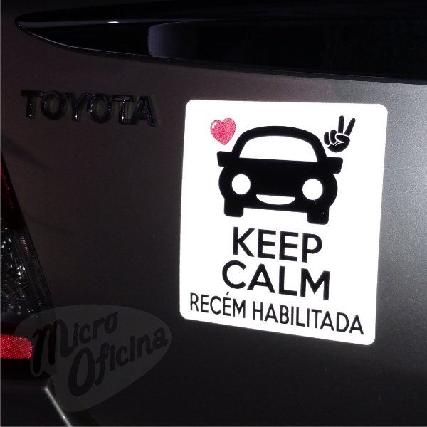 Ímã De Carro Refletivo Keep Calm Recém Habilitada