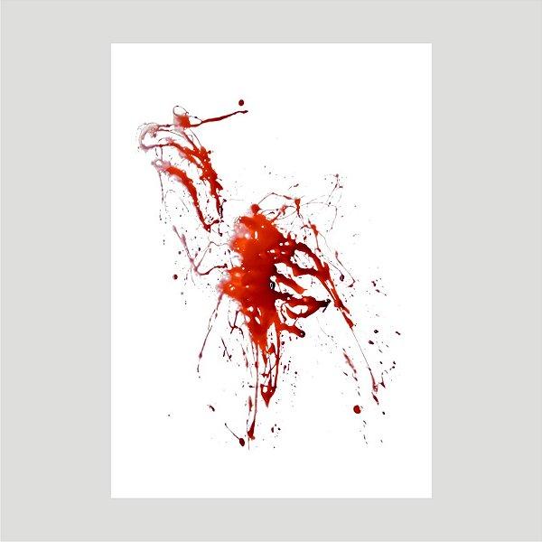 Lançamento Adesivo Halloween Mancha De Sangue A4 Mod04