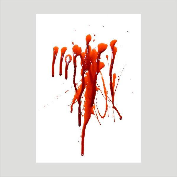 Lançamento Adesivo Halloween Mancha De Sangue A4 Mod08