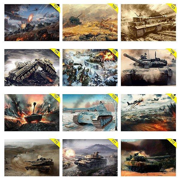 Placas Decorativas 30x20cm Tanque Guerra Missel