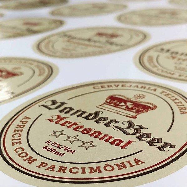 Rótulo Personalizado Em Vinil Para Cervejas Artesanais