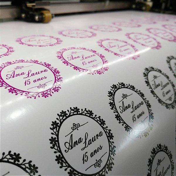 Rótulos Etiquetas Adesivos Personalizados Vinil 03 Folhas A4