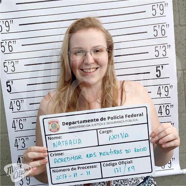 Placa De Crime E Fundo Fotográfico Chá De Panela Bar Festa