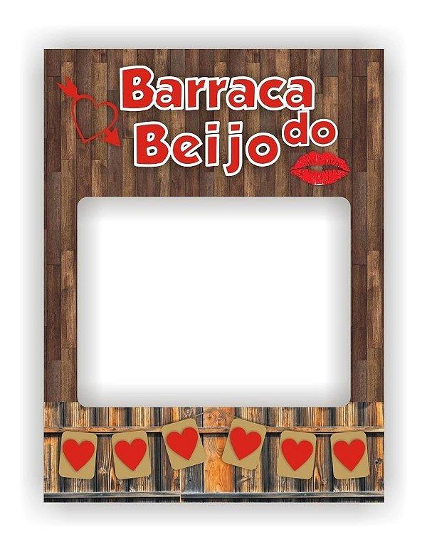 Placa Barraca Do Beijo Moldura Festa Junina Julhina São João