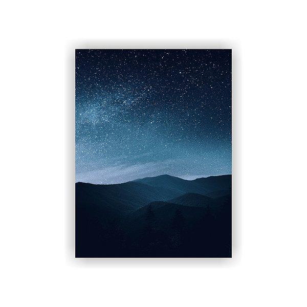 Quadro Decorativo Paisagem - Céu Noturno