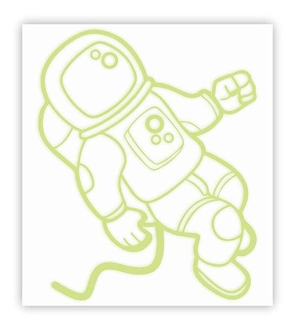 Adesivo Brilha No Escuro Astronauta 60 X 66,7