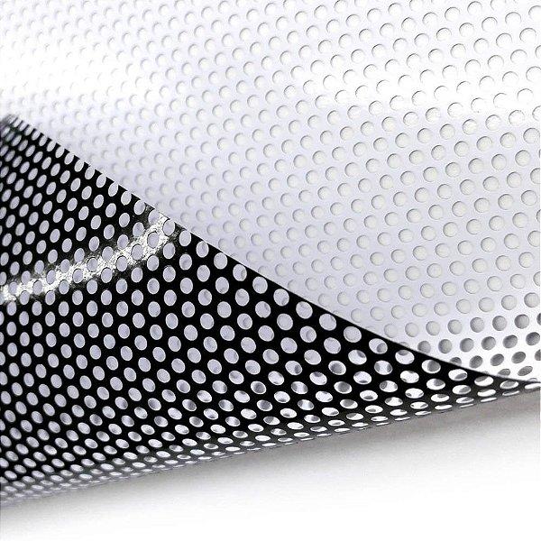 Adesivo Perfurado Medida 80 X 40cm