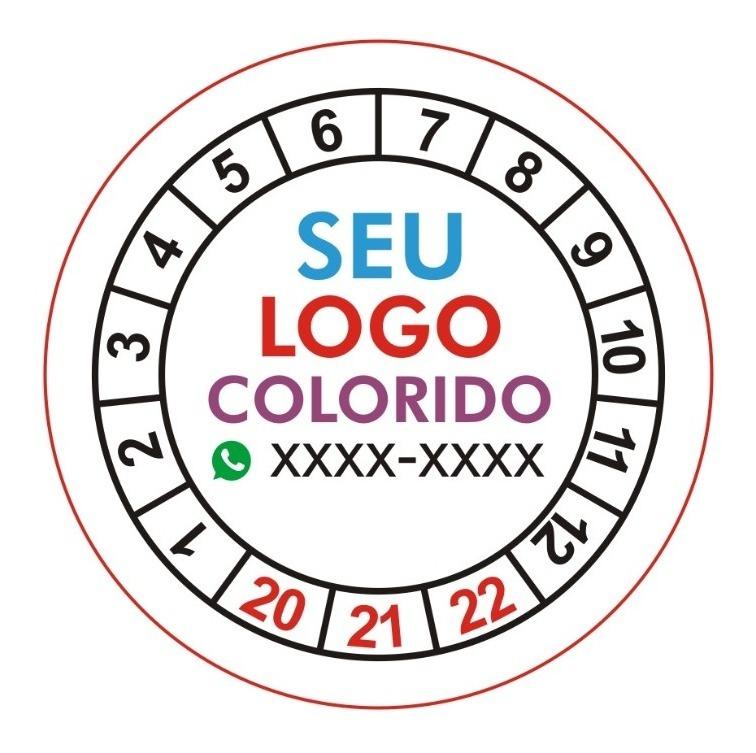 1000 Etiquetas Lacre Casca De Ovo Redondas 2cm De Diâmetro