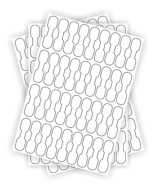 Kit 3 Cartelas Adesivo Etiqueta Fios E Cabos