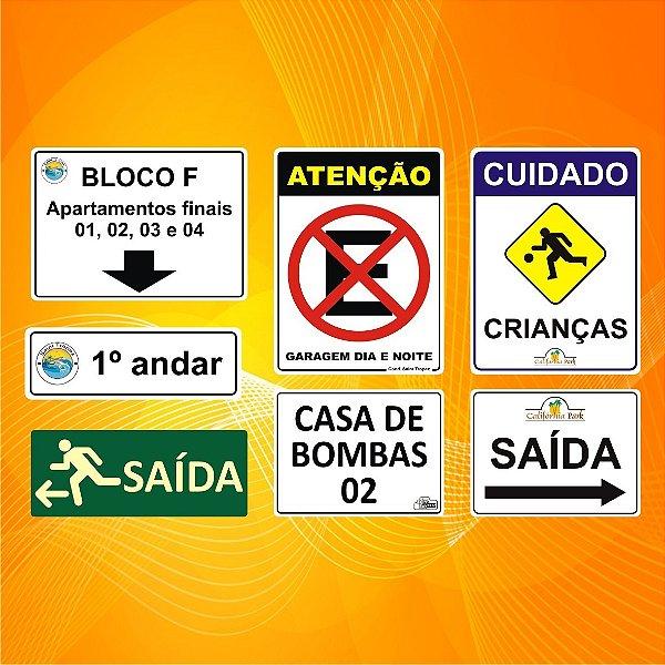 Placa De Sinalização Personalizada Para Condomínio Interfone