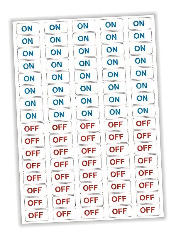 Etiqueta Adesivo Ligado Desligado On Off