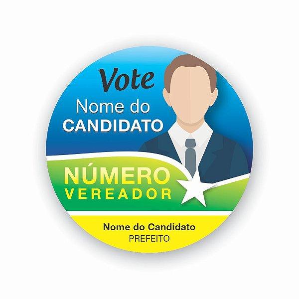 200 Adesivos Campanha Política Praguinhas Em Vinil 5x5cm