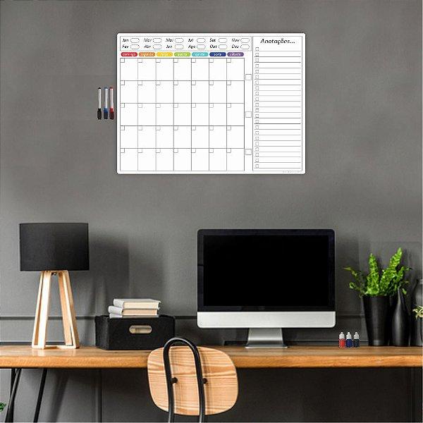 Quadro Planejamento Mensal Planner Diario Tarefas MOD02