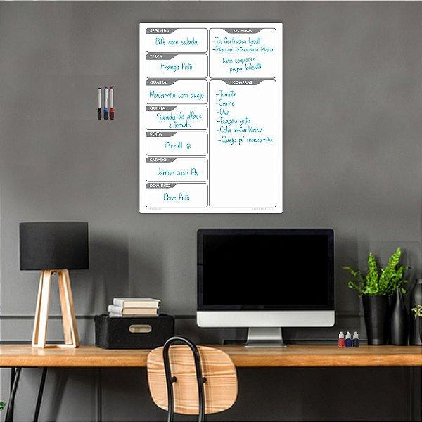 Quadro Planejamento Mensal Planner Diario Tarefas Branco