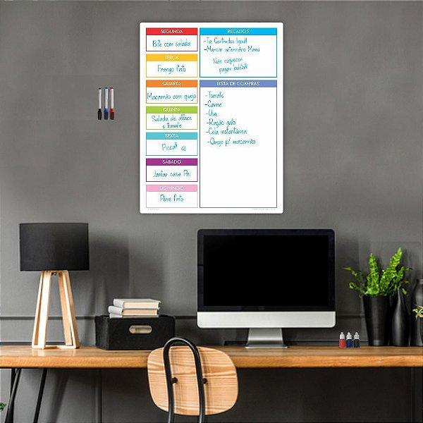 Quadro Planejamento Mensal Planner Diario Tarefas Colorido 01