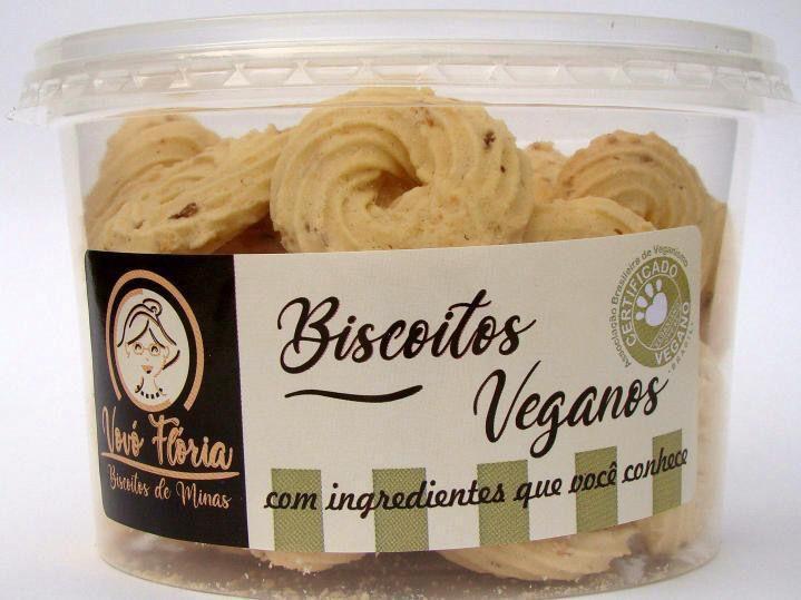 Biscoito vegano sabor nata com coco 250g - Vovó Flória