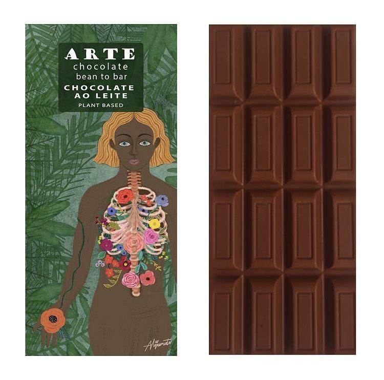 Chocolate ao leite 75g - Arte Chocolate