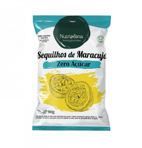 Sequilhos de maracujá zero açúcar 90g - Nutripleno