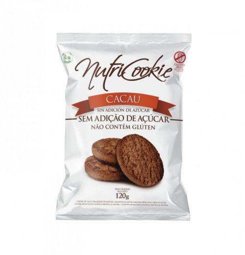 Cookie de cacau zero açúcar 120g - Nutripleno