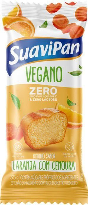 Bolinho zero sabor laranja com cenoura 35g - Suavipan