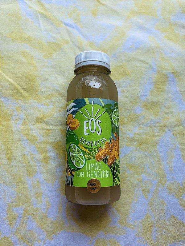 Kombucha limão com gengibre 300mL - EOS